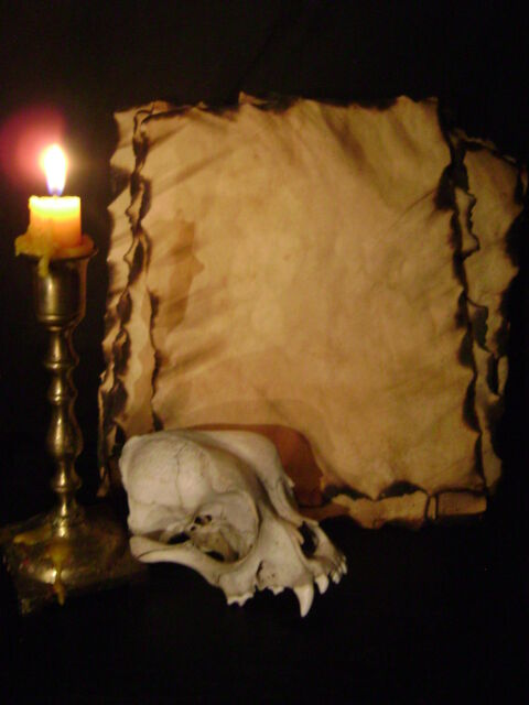 13 HAND AGED SPELL PAGES burnt parchment BLACK MAGICK magic book sheets