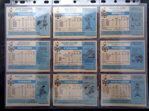 TOPPS 1976 FOOTBALL BLUE//GREY CARDS 163 TO 216 VG *PLEASE SELECT CARDS*