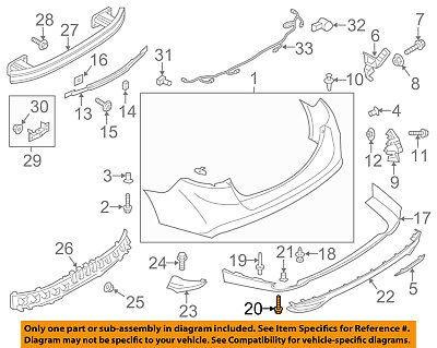 FORD OEM 08-16 F-250 Super Duty Rear Bumper-Mount Bracket Bolt Plate W705174S439