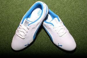 PUMA-Biofusion-Junior-Golfschuhe-Weiss-Blau