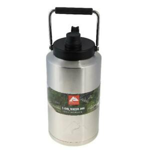 Ozark-Trail-Stainless-Steel-Water-Jug-1-Gallon-Double-Wall-Vacuum-Insulated-New