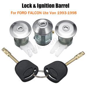 Door-Lock-amp-Ignition-Barrel-w-2-Keys-For-FORD-Falcon-XG-XH-Ute-Van-1993-1998