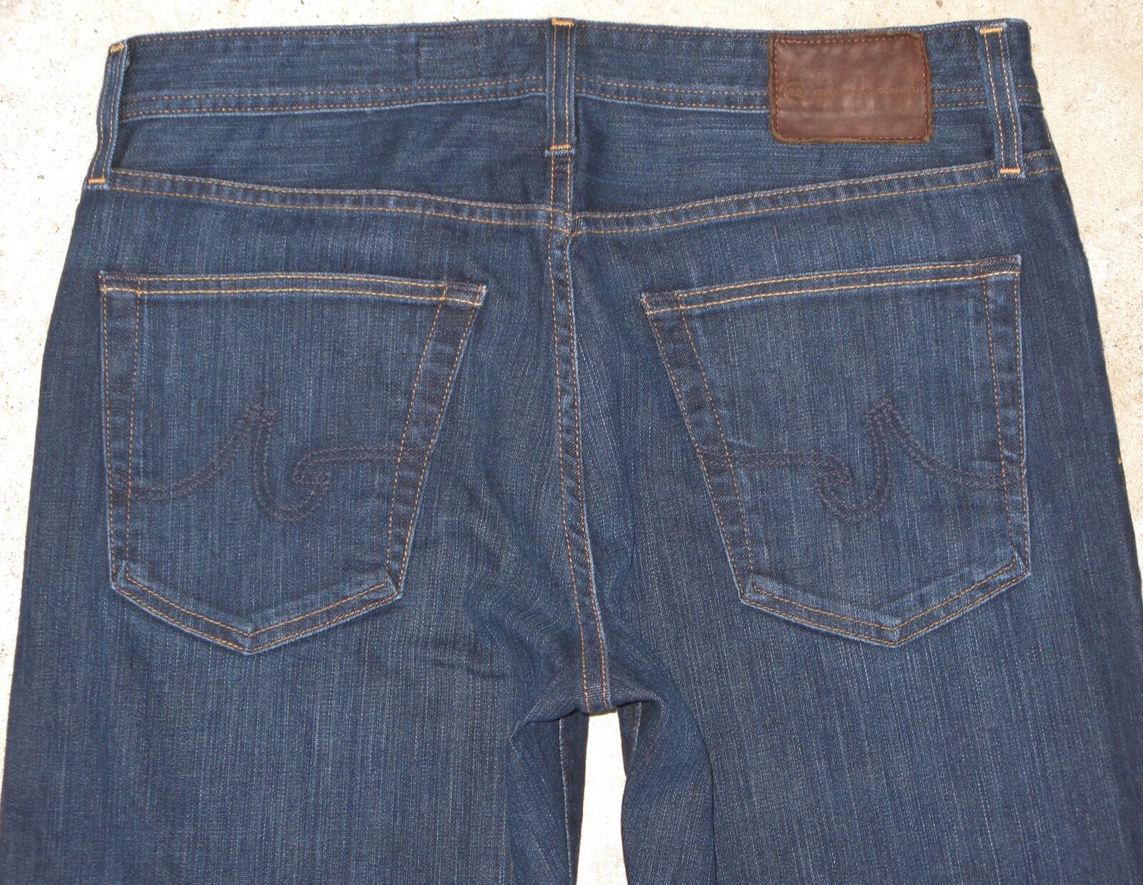 AG ADRIANO goldSCHMIED Mens Hero Relaxed Jeans Sz 33 X 33 Dark w Stretch