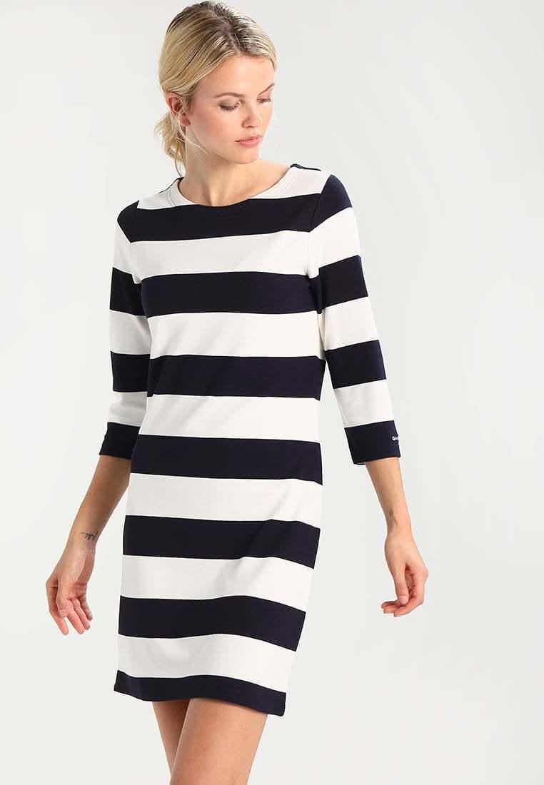 GANT SAILOR - Jersey dress - marine offwhithe  DEFECT DEFECT