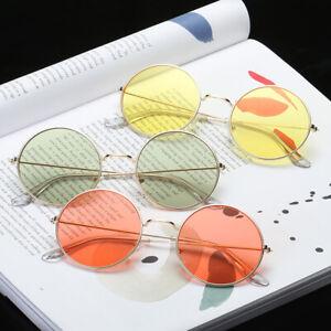 Women-Round-novelty-sunglasses-New-Hip-hop-Style-Colors-Lenses-Retro-Glasses