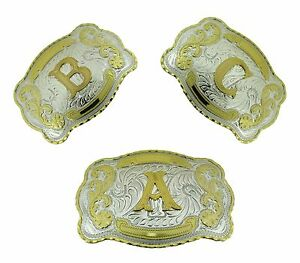 Men Women Initial Belt Buckles Western Usa American Alphabet Letter Monogram New