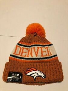 a4088c301ca 2018 Denver Broncos New Era NFL Knit Hat On Field Sideline Beanie ...