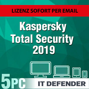 Dettagli su KASPERSKY Total Security 2019 5 PC/dispositivi/1  ANNO/download/anche F  2018- mostra il titolo originale