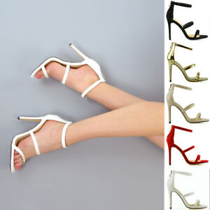 New-Womens-High-Heel-Strappy-Sandals-Ladies-Zip-Party-Stiletto-Shoes-Size-3-8