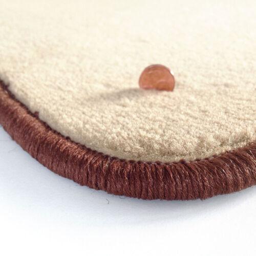 Velours beige Fußmatten passend für SKODA SUPERB 2 Bj 08-4tlg