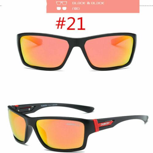 DUBERY Men/'s Outdoor Driving Riding Fishing Fashion Sport Polarized Sunglasses