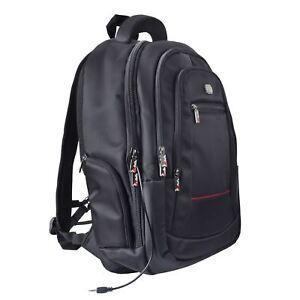 """JAM Waterproof Backpack 15"""" Inch Laptop Tablet Bag Case Headphone Port Padded"""