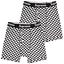 thumbnail 1 - Supreme Men's 100% Authentic 2 Pack Checks Boxer Briefs