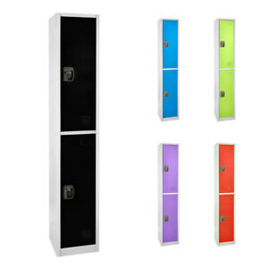 AdirOffice-Steel-2-Door-Compartment-Key-Lock-Office-Gym-Storage-School-Locker