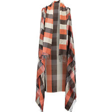 Vivienne Westwood Checked Wool-Blend Wrap Scarf Cape Poncho - Great Gift