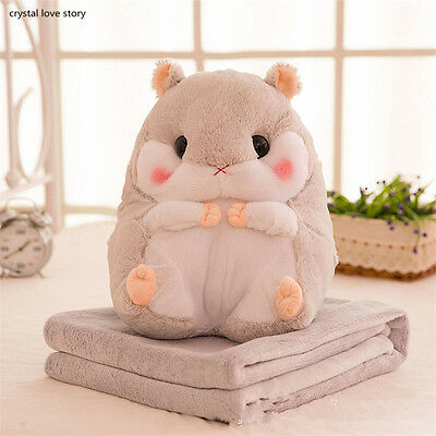 Hamster Blanket Fannle Detachable Soft Pillow Camping Travel Vacation Toy Doll