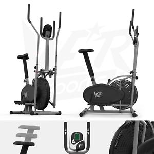 Deluxe 2-in – 1 Cross Trainer & Cyclette Allenamento di cardio fitness con sedile attrezzature sportive