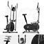 miniatura 1 - Deluxe 2-in - 1 Cross Trainer & Cyclette Allenamento di cardio fitness con sedile