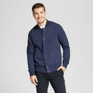 Goodfellow-amp-Co-Men-039-s-French-Terry-Bomber-Jacket-Gray-or-Blue-S-M-L-X-XXL
