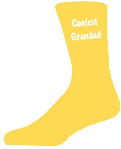 Coolest Grandad Yellow Socks Cotton Novelty Socks