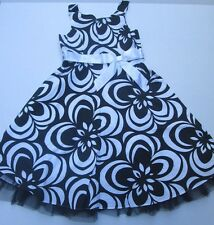 ❤ RARE EDITIONS dress gorgeous floral lined cotton dressy black 10 12 FREESHIP