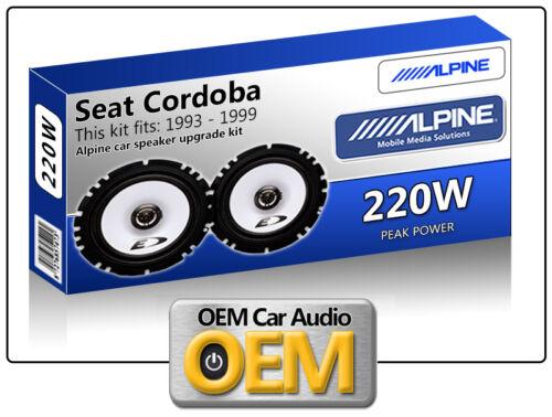 "Seat Cordoba Front Door speakers Alpine 6.5/"" 17cm car speaker kit 220W Max Power"
