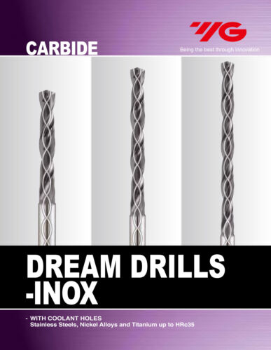 """Details about  /13//64/"""" Carbide Dream Drill 5XD TiAlN INOX For Stainless Steel Coolant-Thru,"""