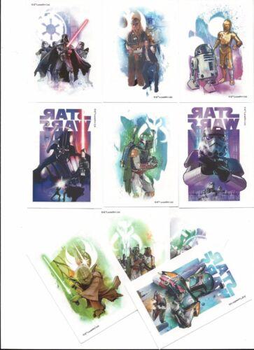STAR WARS Vending machine tattoo sticker set Disney//lucas  complete set of 10