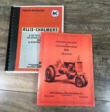 Allis Chalmers U Uc Iu U318 Tractors Owner Operator Parts Manual Catalog