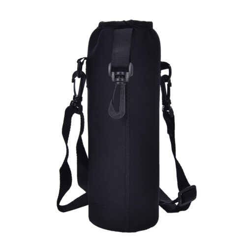 1L//1000ML Water Bottle Carrier Insulated Cover Bag Holder Strap Pouch Outdoor JB