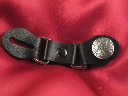 "Leather Button Denim Jacket//Vest Extender  4 3//4/"" Mini Liberty Coin Design New"
