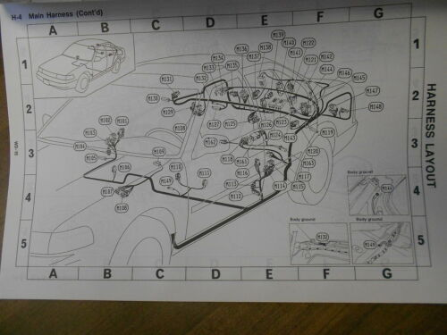 1991 Nissan Maxima Electrical Wiring Diagram Troubleshooting Manual EWD EVTM OEM