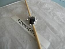 Premier Designs COUTURE black crystal ring sz 8 RV $58 FREE 1st class ship