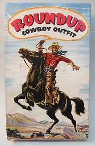 empty box ROUNDUP COWBOY OUTFIT Holster Set #201 by Carnell. great graphics