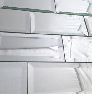 Incroyable Image Is Loading 3x6 Wide Beveled Subway Mirror Tile Backsplash Wall