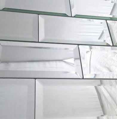 3x6 Wide Beveled Subway Mirror Tile Backsplash Wall Decorative Kitchen 1 SF(8pc)