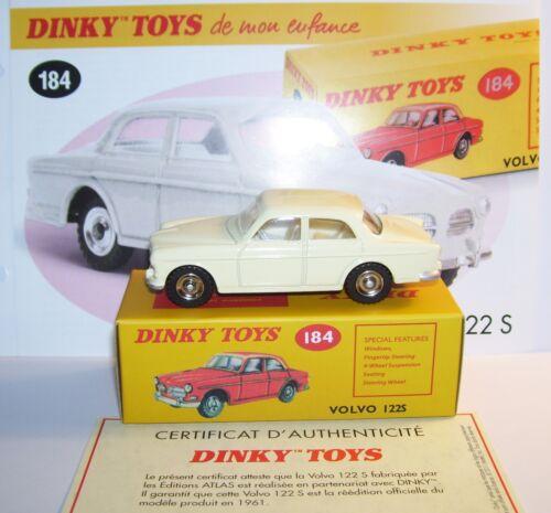 DINKY TOYS ATLAS VOLVO 122 S BLANC CREME 1//43 REF 184 IN BOX
