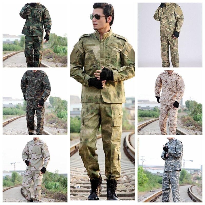 ARMY TACTICAL CAMO UNIFORM US SPECIAL FORCES RIPSTOP MILITARY UNIFORM SET
