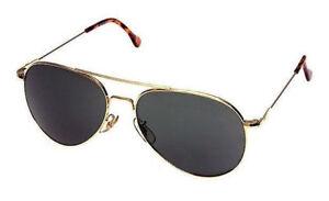 52db3acb83 AO General 58mm Gold True Color Gray Non-Polarized Sunglasses USAF ...