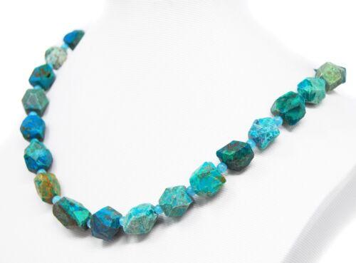 Wunderschöne Edelsteinkette aus echtem hochwertigem Chrysokoll