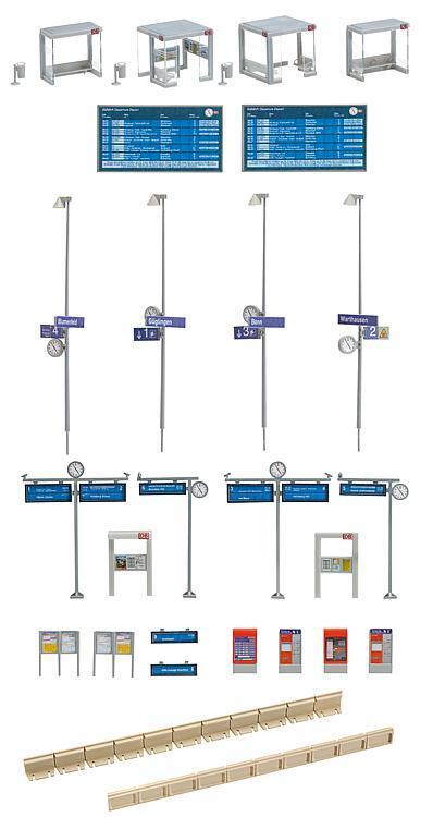 120240 faller - kit f  modernes r ein modernes  bus shelter mit plattform a8a00f