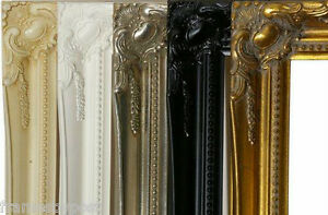 Silver-White-Ivory-Black-Gold-Quality-2-Inch-WOOD-Bevel-Plain-Mirrors-ALL-SIZES