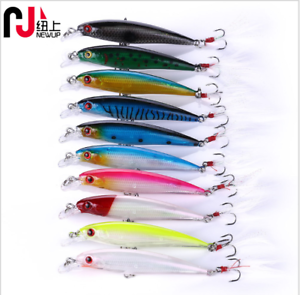 10 Pcs Fishing Lures Crankbaits Hook Minnow Baits Tackle Crank Fishing Kit