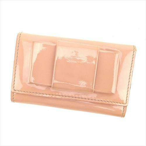 miumiu Key holder Key case Pink Gold Woman Authentic Used T6290