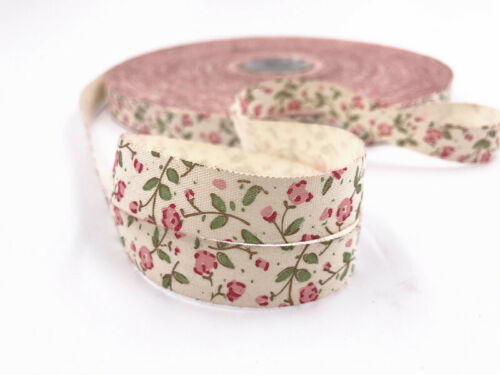 5-100yards Printed Cotton 15mm Flowers Handmade Gift Present Package DIY Sewing