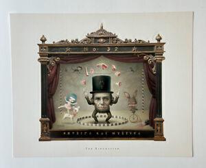 Mark-Ryden-The-Ringmaster-Portfolio-Print-Set-Of-3-Pop-Surrealism-Abe-Lincoln
