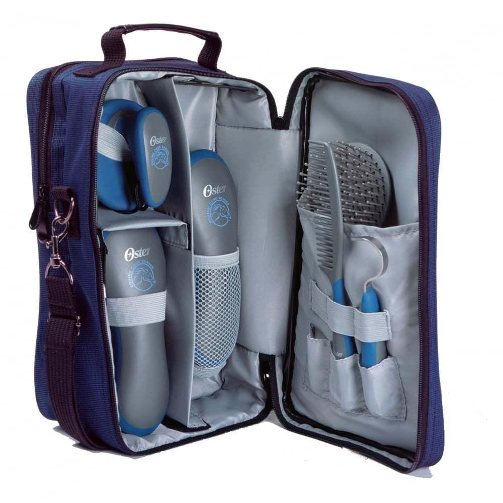 Oster 7 Pieza Grooming Kit Conjunto de Aseo Caballo Azul