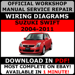 official workshop service repair manual suzuki swift 2004 2011 rh ebay co uk 1995 Suzuki Swift 1991 Suzuki Swift
