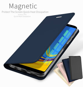 best cheap 2a29a d7e5d Details about For Samsung Galaxy A7 2018 A750 A8 A6 PU Leather Flip Case  Wallet Magnetic Cover