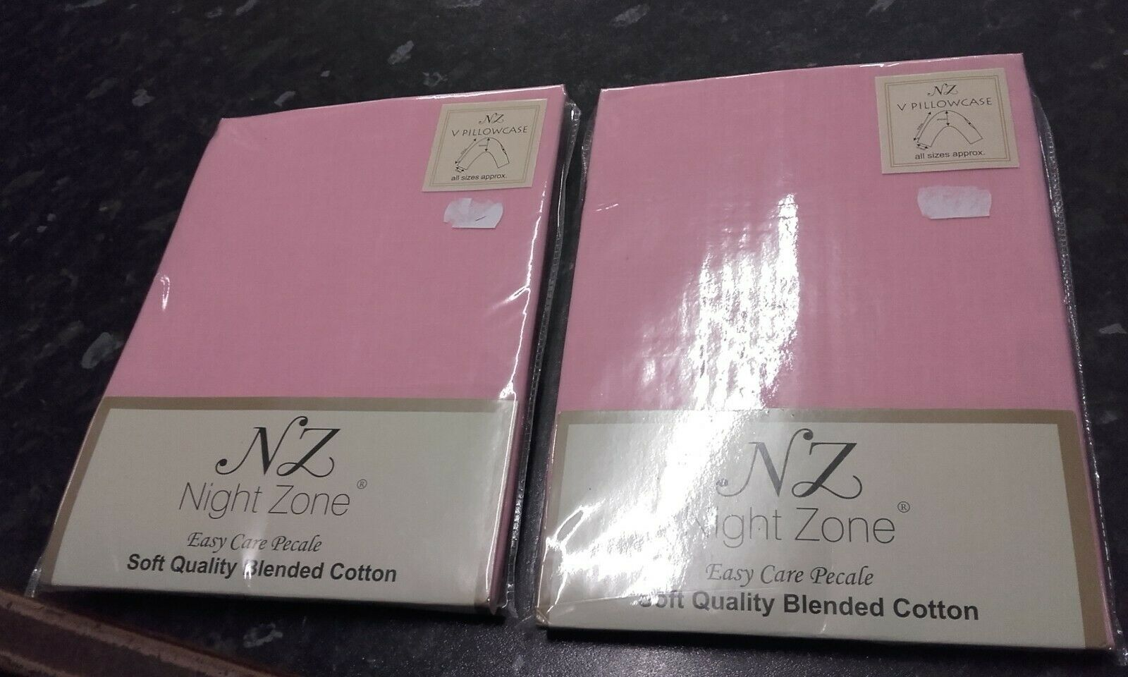 White Pair NZ Night Zone Easy Care Polycotton Housewife Pillow Cases